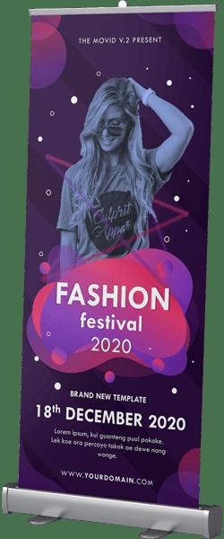Roll Up Banner Fashion Week 1
